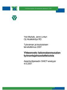 Talonrakennusalan TKTT, Yrjö Mylllä & Jenni Linturi