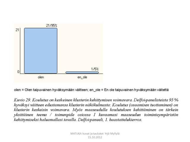 Koulutusjärjestelmä, kasvuklusterit, Aluekehitys, Delfoi, Kuvio 29.