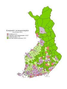 Keskukset, vuorovaikutusalueet, ydinmaaseutu ja harvaan asuttu maaseutu -aluejako