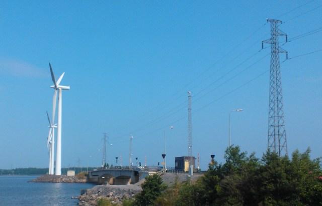 Tuulienergiaa Porissa 25.7.2013.