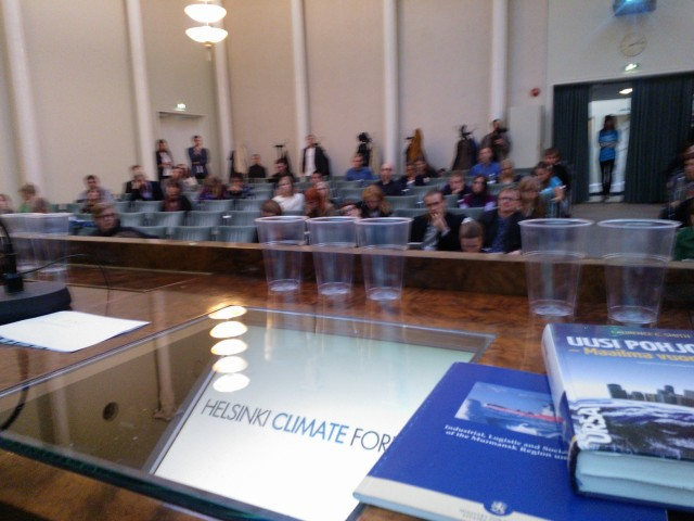 Helsinki Climate Forum: Arctic Urgency 28.9.2013
