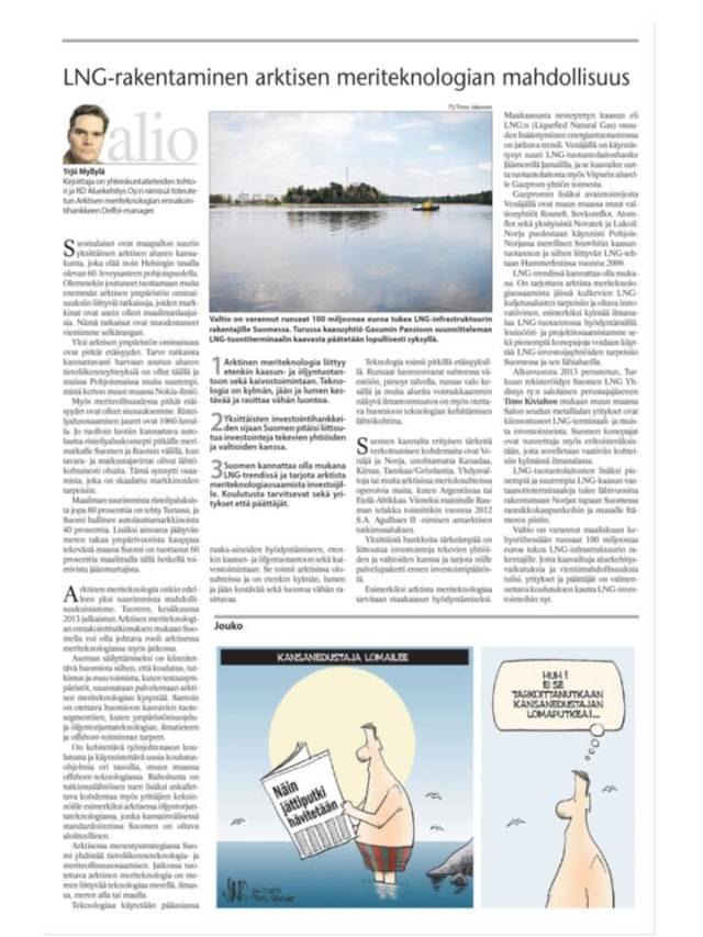 Turun Sanomat, Alio-kirjoitus 26.7.2013