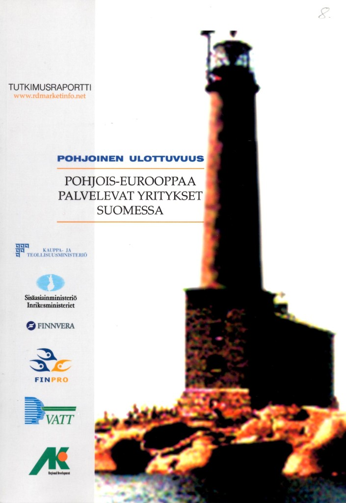 Vuodet 1998-2000. Kantavimman RD Aluekehityksen projektikokonaisuuden muodosti Pohjois-Eurooppaa palvelevat yritykset Suomessa - Kehitettävät klusterit ja niiden kansainvälistämisen tukipalvelujen kehittäminen -ennakointihanke. Tämän soveltaminen olisi jälleen ajankohtaista.