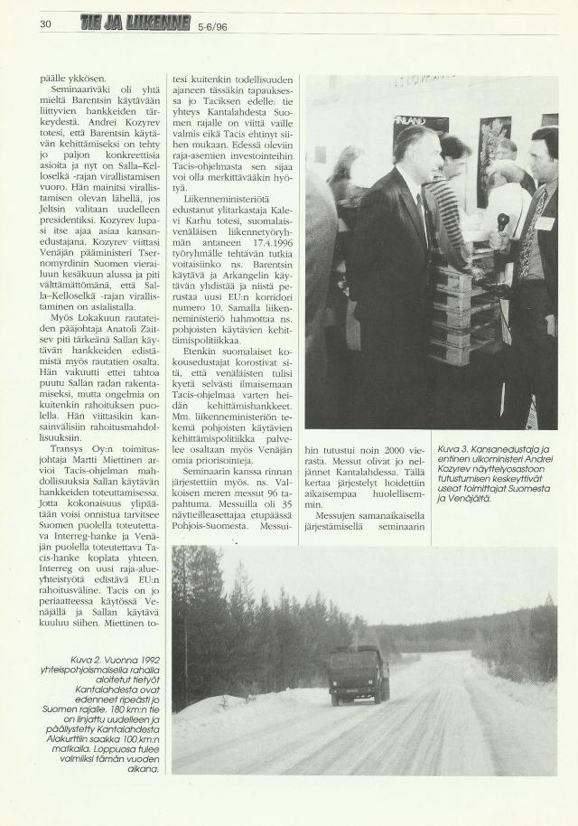 Andrey Kozyrev oli Barentsin käytävän kehittämisseminaarin yksi pääpuhuja.