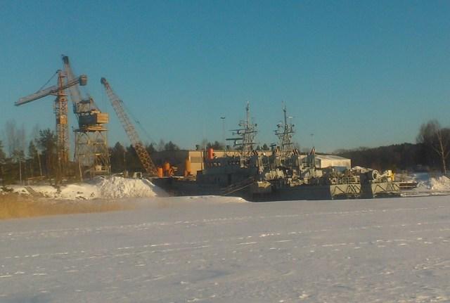 Teijon telakka maaliskuussa 2013.
