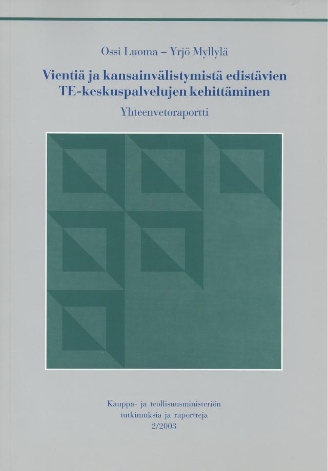Vienti- ja kansainvälistyminen, VKE 2003