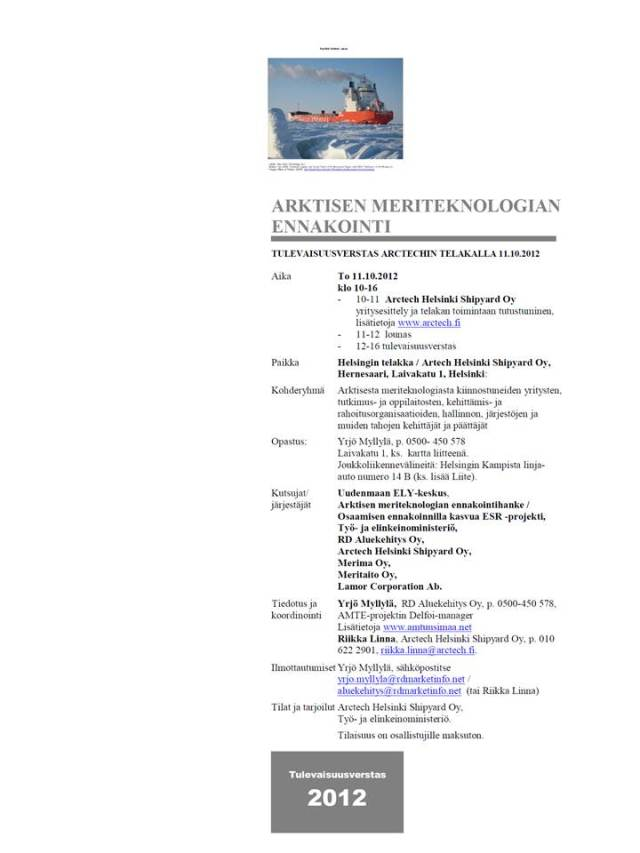Tulevaisuusverstas 11.10.2012