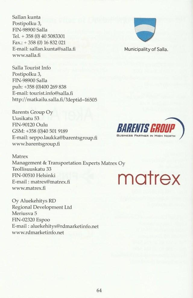 Sponsorit, logo ja yhteystiedot