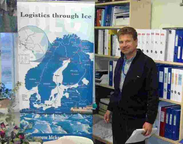 Oy Bothnia Logistic Centre Ltd:n toimitusjohtaja Hannu Tikkala. Kuva YMy.