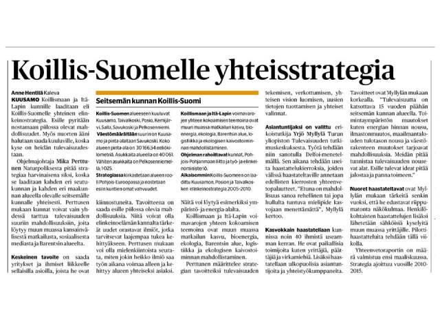 Delfoi, Koillis-Suomi, Viestintäsuunnitelma8